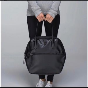 Lululemon Happy Hatha Hour Bag Black With Gray & w